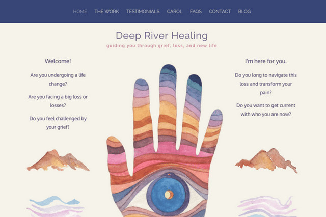 Carol Harada Deep River Healing: guiding you through grief, loss, and new life