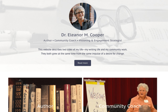 Dr. Eleanor M. Cooper Author • Community Coach • Visioning & Engagement Strategist
