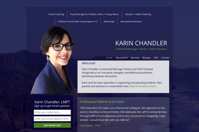 Karin Chandler – Licensed Marriage, Family + Child Therapist