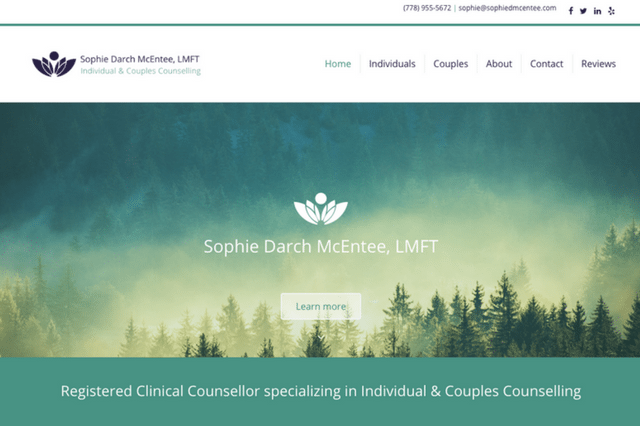 SophieDMcEntee.com • Sophie Darch McEntee, LMFT, RCC • Individual & Couples Counselling