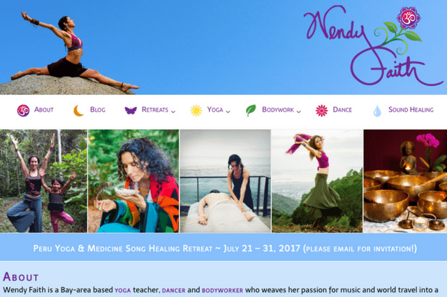 Wendy Faith: Retreats • Yoga • Bodywork • Dance • Sound Healing