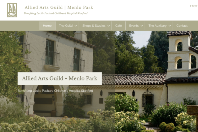 Website Design for Allied Arts Guild in Menlo Park by Kojolapower