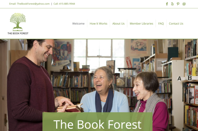 Website for The Book Forest by Kojolapower