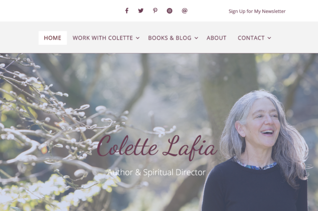 Website design for Colette Lafia by Kojolapower