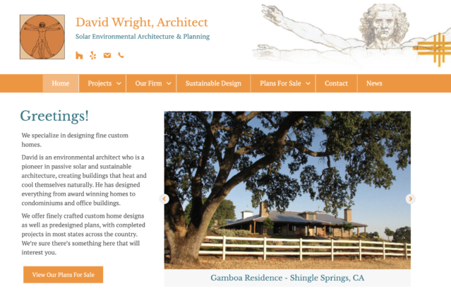 Website Design for David Wright Architect by Kojolapower