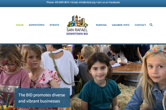 Website design for Downtown San Rafael by Kojolapower