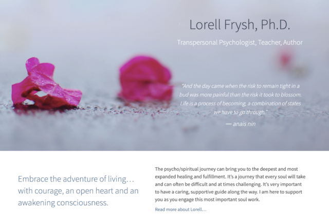 Website for Lorell Frysh, Ph.D. by Kojolapower