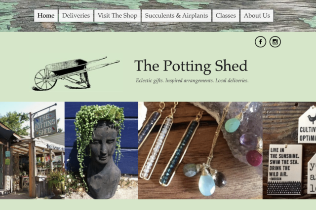 Website design for The Potting Shed in Fairfax by Kojolapower