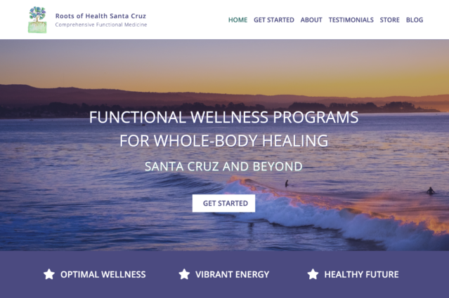 Website design for Roots of Health Santa Cruz by Kojolapower