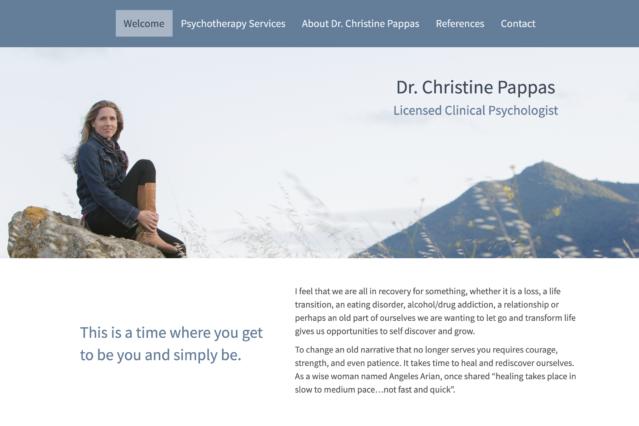 ChristinePappas.org website design by Kojolapower