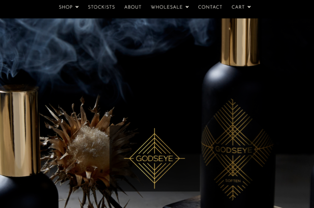 GodseyeOils.com website design for Natalie Rose by Kojolapower