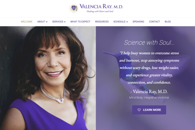 Website Design for Valencia Ray, M.D. by Kojolapower
