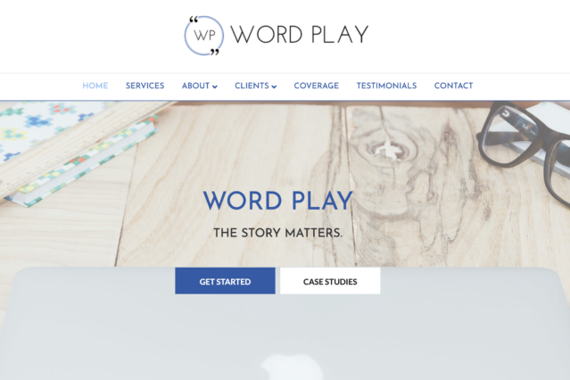 Website for Word Play Agency by Kojolapower