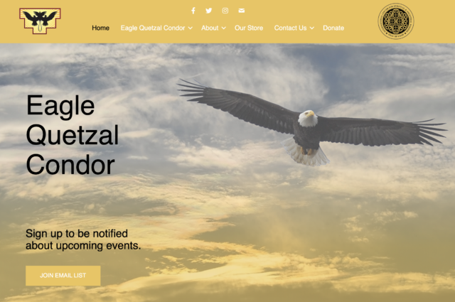 eaglequetzalcondor.com website design for Adam De Armon by Kojolapower