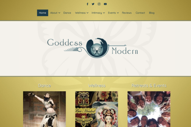 goddessmodern.com website design for Kelley Mountain by Kojolapower